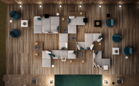 Quadrado modular seating system de Minotti