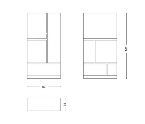 Mondrian Cabinet de Röthlisberger Kollektion