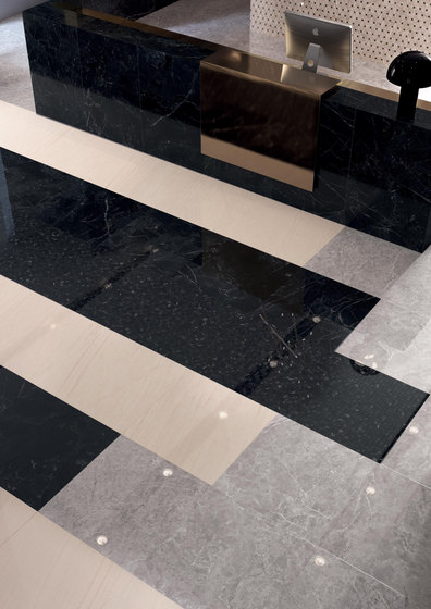 Newluxe Floor | Tessere Naturale Black by Marca Corona