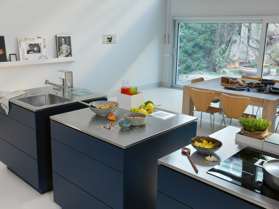 Creative Stainless Steel Worktop Wet Module by Franke Kitchen Systems