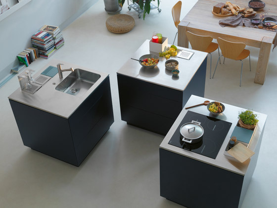 Creative Stainless Steel Worktop Prep Module by Franke Kitchen Systems