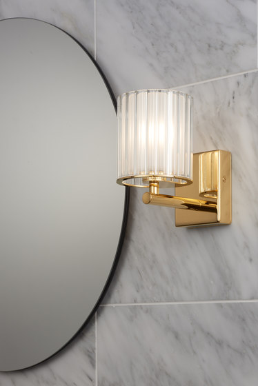 Flute Wall Light chrome by Tom Kirk Lighting
