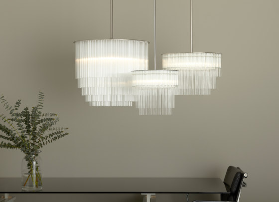GS Pendant 300 brushed nickel by Tom Kirk Lighting