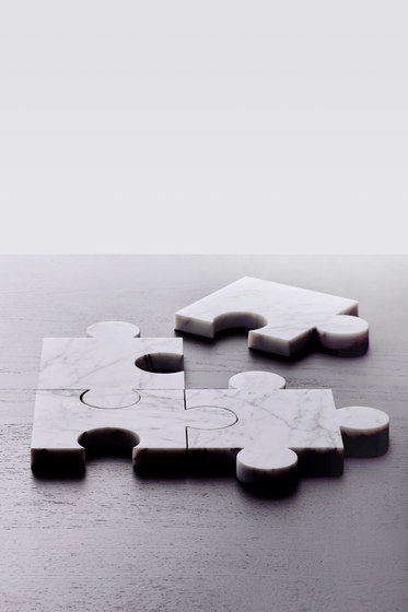 Stonecut Puzzle Coasters White by tre product
