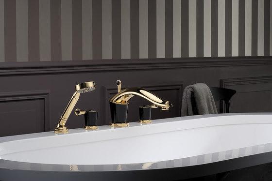 Bagatelle | Rim mounted 3-hole basin mixer by THG Paris