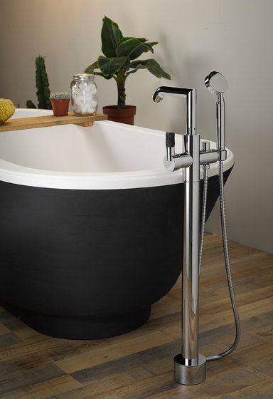 Bambou | Rim mounted 3-hole basin mixer by THG Paris