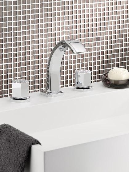 Beverley | Rim mounted 3-hole basin mixer by THG Paris
