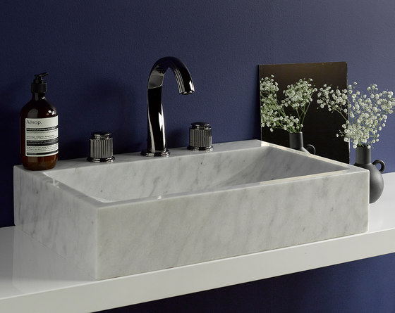 Jaipur | Rim mounted 3-hole basin mixer de THG Paris