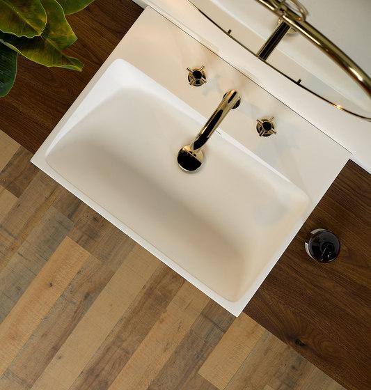 Nano | Rim mounted three-hole basin mixer - High spout by THG Paris