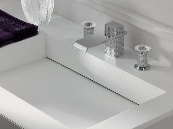Perle | Rim mounted 3-hole basin mixer by THG Paris