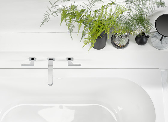 Profil | Rim mounted 3-hole basin mixer by THG Paris