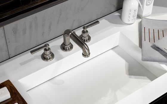 Saint-Germain | Rim mounted 3-hole basin mixer de THG Paris