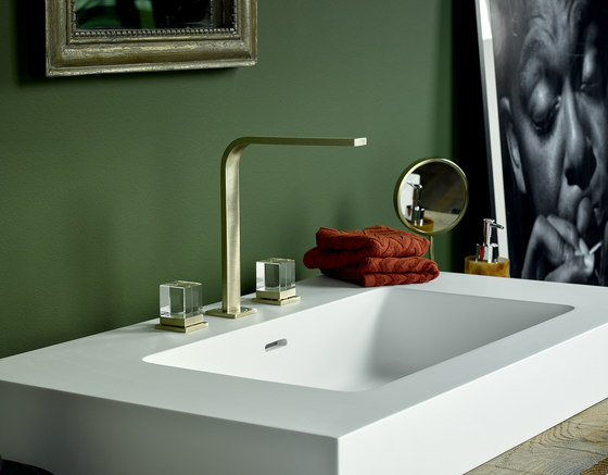 Soho | Rim mounted 3-hole basin mixer de THG Paris