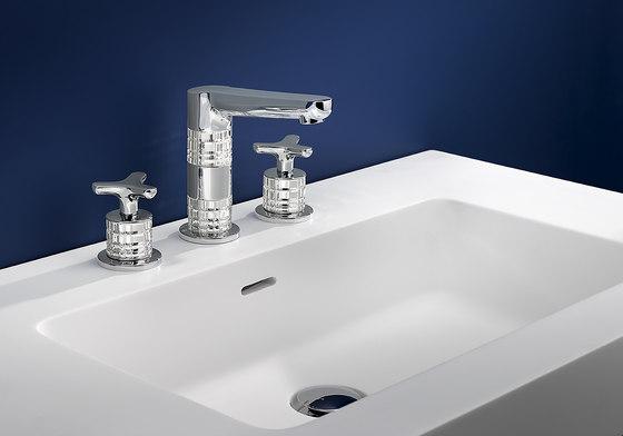 System | Rim mounted 3-hole basin mixer de THG Paris