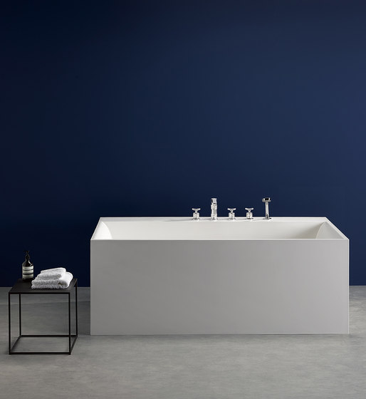 System | Rim mounted 3-hole basin mixer by THG Paris