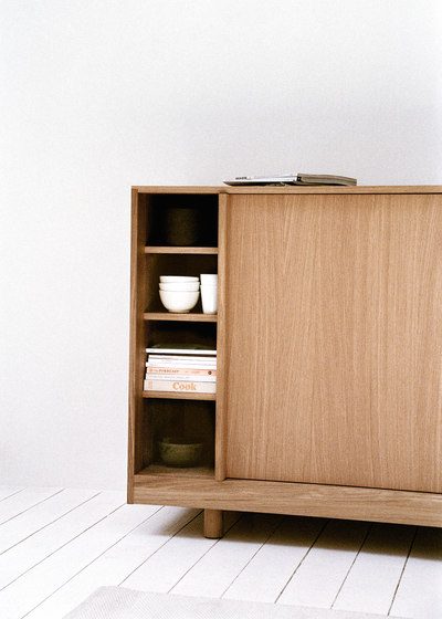 Sideboard with Sliding Doors Natural Oak by Bautier