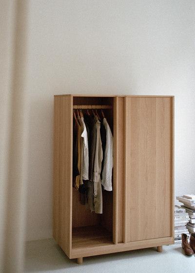 Wardrobe with Sliding Doors Natural Oak de Bautier