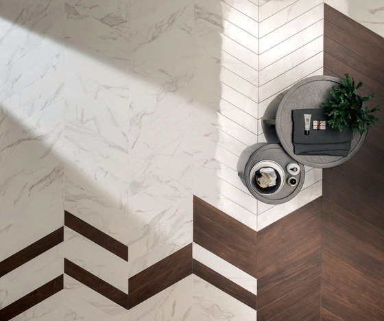 Motif Extra | Travertino Silver Tess.Treccia Reflex by Marca Corona