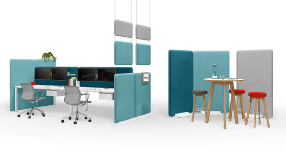 Winea Sonic | Freestanding panel by WINI Büromöbel