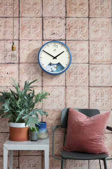 Weather Clock, Copper plated Frame by Bramwell Brown Clocks