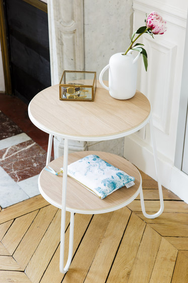 Side table Anatole in marble, slate grey by Hartô