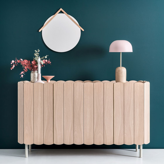 Sideboard Cesar 124cm, light grey by Hartô