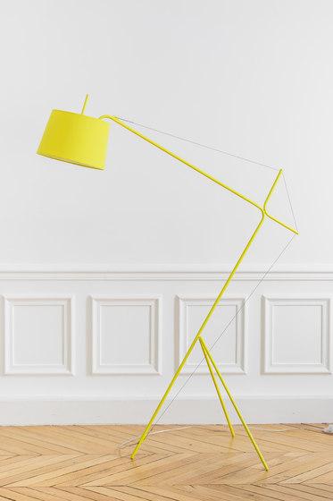 Floor lamp Elisabeth, lemon yellow di Hartô