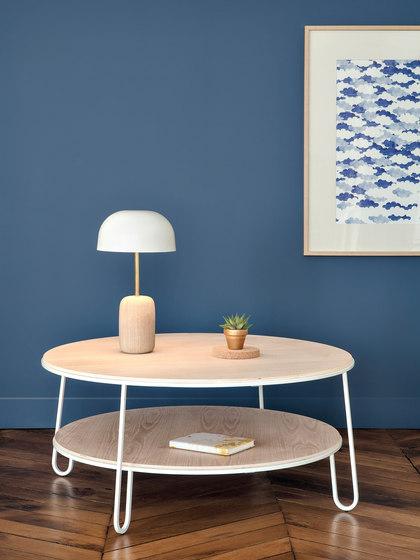 Coffee table Eugenie 90cm, white di Hartô