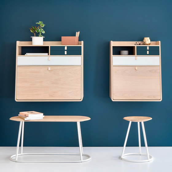 Wall secretary desk Gaston oak 60cm de Hartô