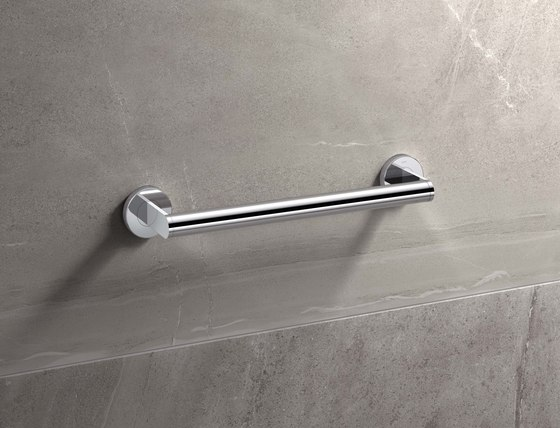 Hinged support rail Duo 750 mm projection chrome | 900.50.10340 di HEWI