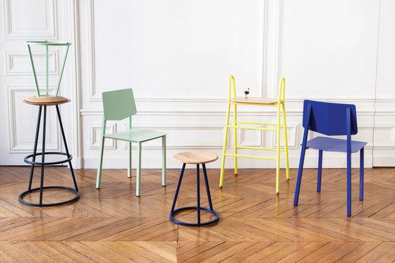 Chair Rosalie with joint, pastel green de Hartô