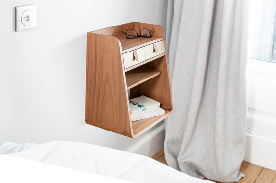 Suzon   Wall mounted storage, brushed brass by Hartô