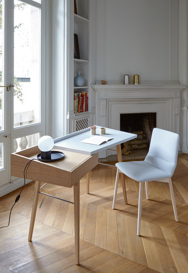 Bendchair | Carver Chair Base Black-Stained Beech by Ligne Roset