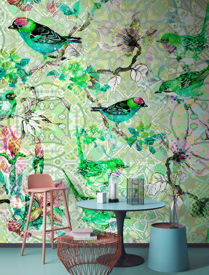 Walls By Patel | Wallpaper Mosaic Birds 3 de Architects Paper
