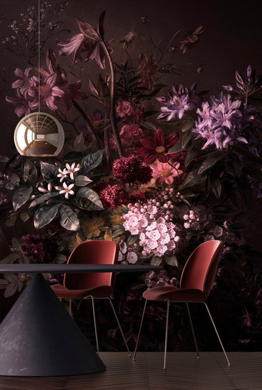 Walls By Patel | Wallpaper Bouquet Noir 1 di Architects Paper
