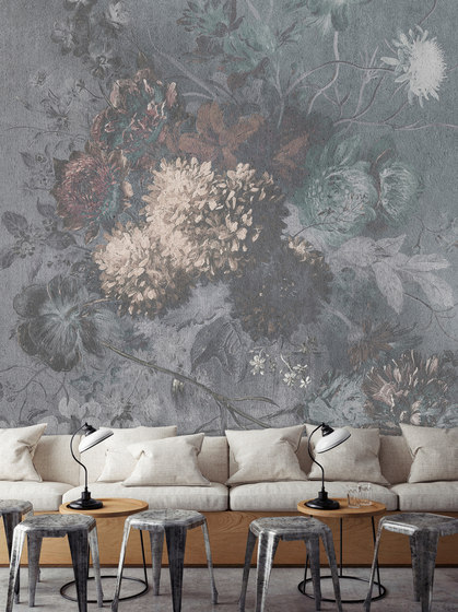Walls By Patel | Wallpaper Bouquet Gris 1 by Architects Paper