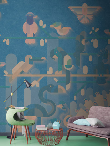 Walls By Patel | Wallpaper Flamingo 1 di Architects Paper