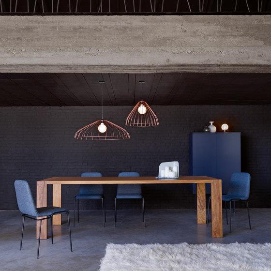 Tadao | Desk Chair Central Pedestal - Brilliant Chrome by Ligne Roset