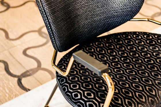 Kalida office chair by black tie