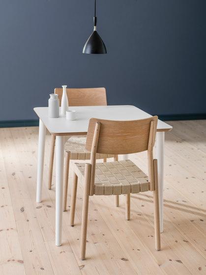 Flex chair Ash Blonde, linen webbing seat de Hans K