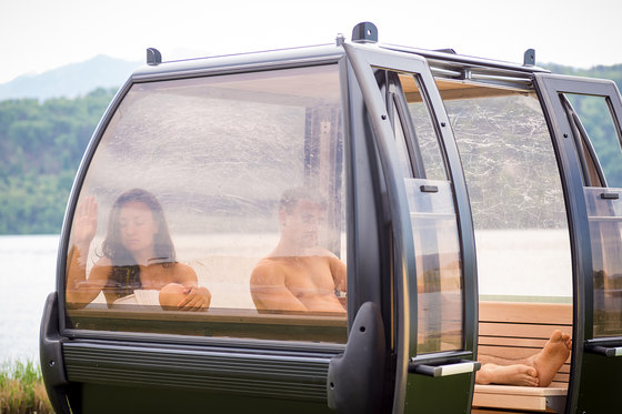 Sauna gondola by Küng Sauna + Spa