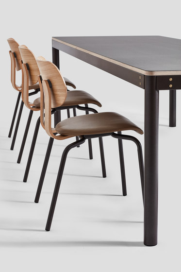 Wooden Dowel table Solid Walnut by VG&P