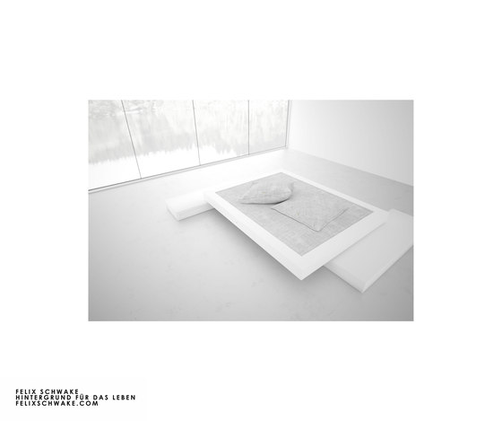 BED VI special edition - Piano lacquer white by Rechteck