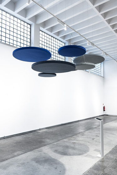 Ceiling absorber 50 for suspension, round frameless by AOS