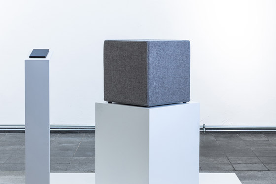 Acoustic seating cube by AOS