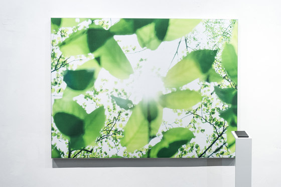 Wall Absorber 55/40 digitally printed  with circumferential cover  or fabric-covered inner edge di AOS