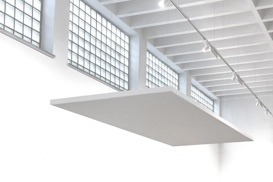 Ceiling absorber 40 for direct mounting by AOS