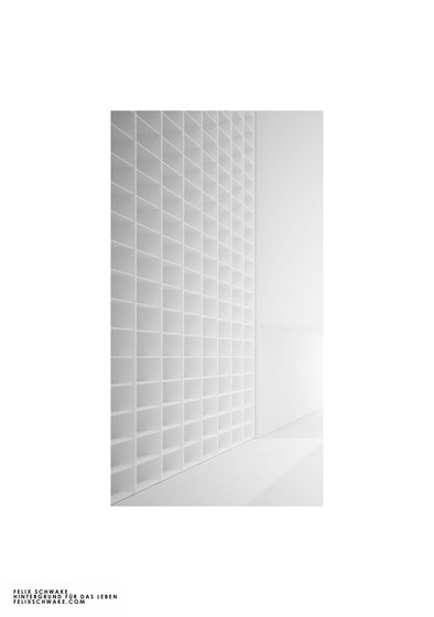 SHELF III-II Numbered and signed edition limited to 6 pieces - piano lacquer white by RECHTECK FELIX SCHWAKE