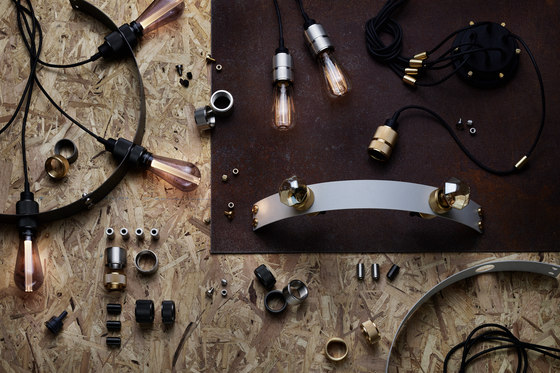 Hero Light | Graphite | Brass by Buster + Punch