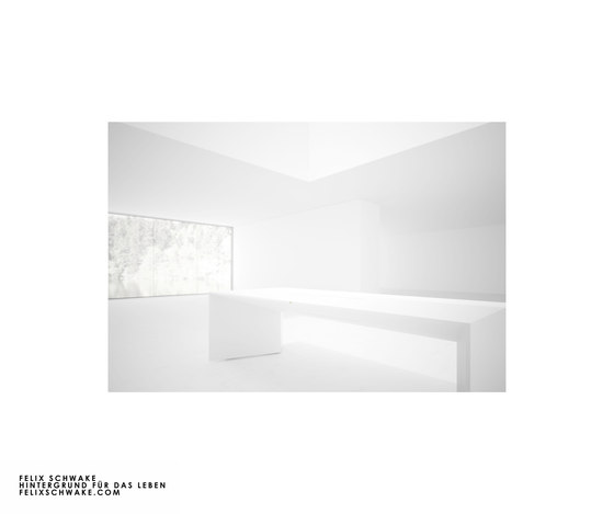 DESK I-I special edition - Piano lacquer white by Rechteck